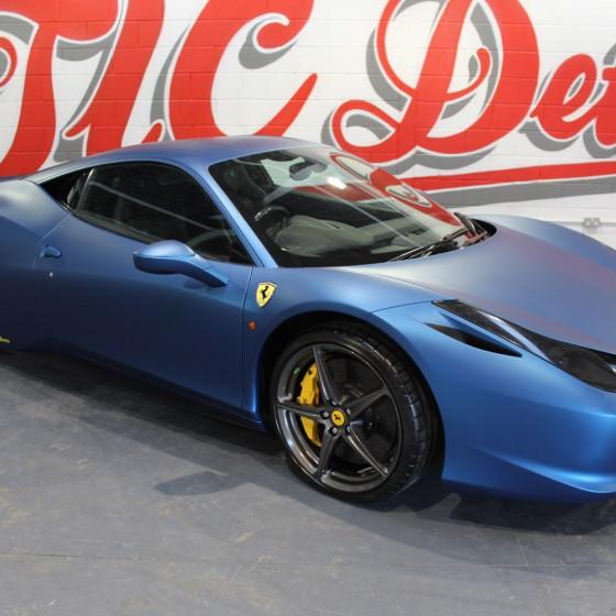 Ferrari 458 Italia – Matte Deep Ocean Blue Vinyl Wrap